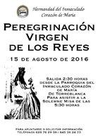 Cartel de la Peregrinación Virgen de lor Reyes 2015
