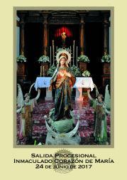 Cartel de la salida procesional del Inmaculado Corazón de María 2015